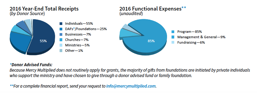 2016 Financial Charts - Mercy Multiplied