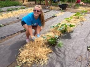Mercy resident gardening