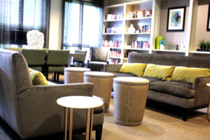 Nashville Mercy home library redesign