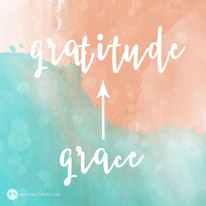 Grace Leads To Gratitude | mercymultipliedblog.com
