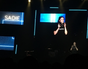Sadie Robertson sharing her journey from fear to freedom
