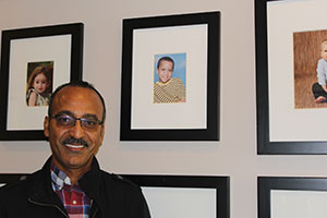 """David recently made a special visit to the Nashville home and found Joshua's photo on Mercy's """"Baby Wall of Fame."""""""