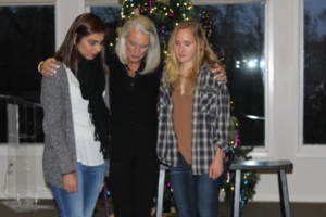 Anastasia and Emma shared their stories and Anne prayed for them and other Mercy residents and staff