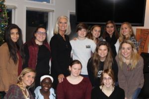 Anne Graham Lotz with a few of the Mercy Nashville residents
