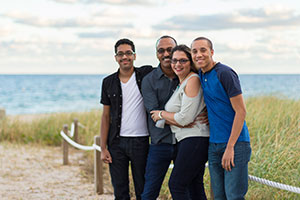 (left to right) A family photo: Jonathan, David, Connie, and Joshua