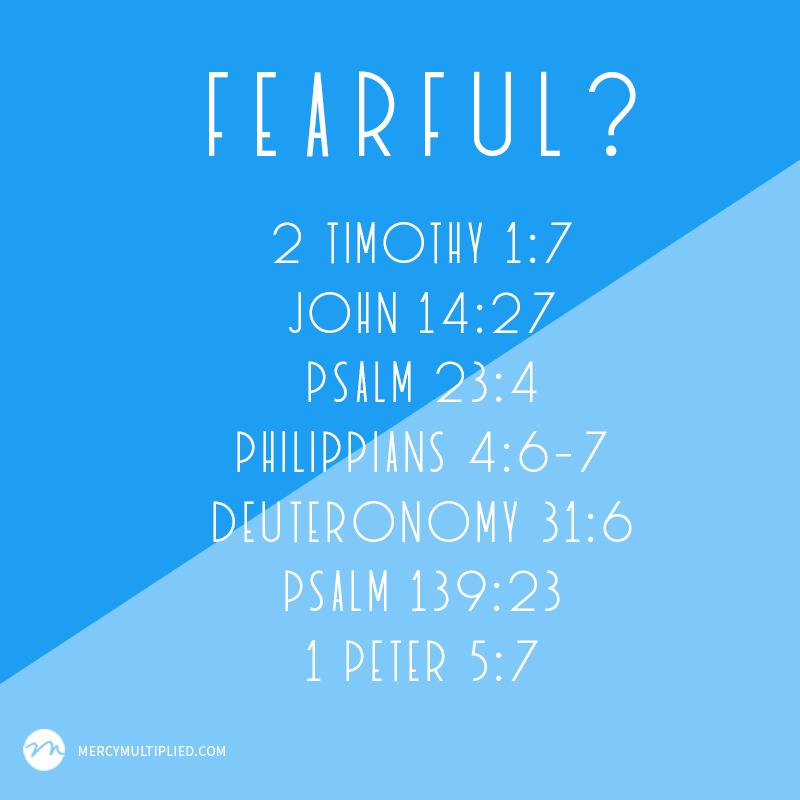 Seven Scriptures To Combat Fear | mercymultipliedblog.com | Choosing Freedom