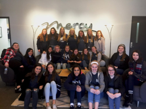 """Franklin Road Academy Junior Girls volunteered at Mercy as a part of their """"Spiritual Emphasis Week"""""""