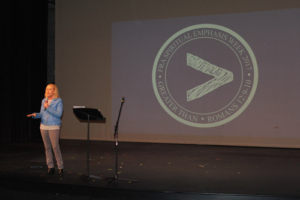 """Mercy Multiplied Founder and President, Nancy Alcorn, sharing at Franklin Road Academy's """"Spiritual Emphasis Week"""""""