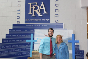 FRA Director of Spiritual Life, Brandon Albright, and Mercy Multiplied Founder and President, Nancy Alcorn