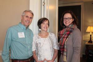 Nancy Earhart (middle) spoke about her daughter, a 2011 Mercy graduate.