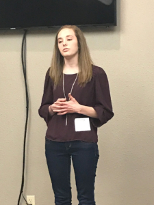 2015 graduate Monica, boldly sharing her testimony, something she thought impossible before Mercy!