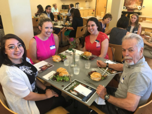 Guests enjoying lunch at the Sacramento Mercy home