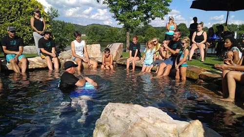 Mercy residents getting baptized