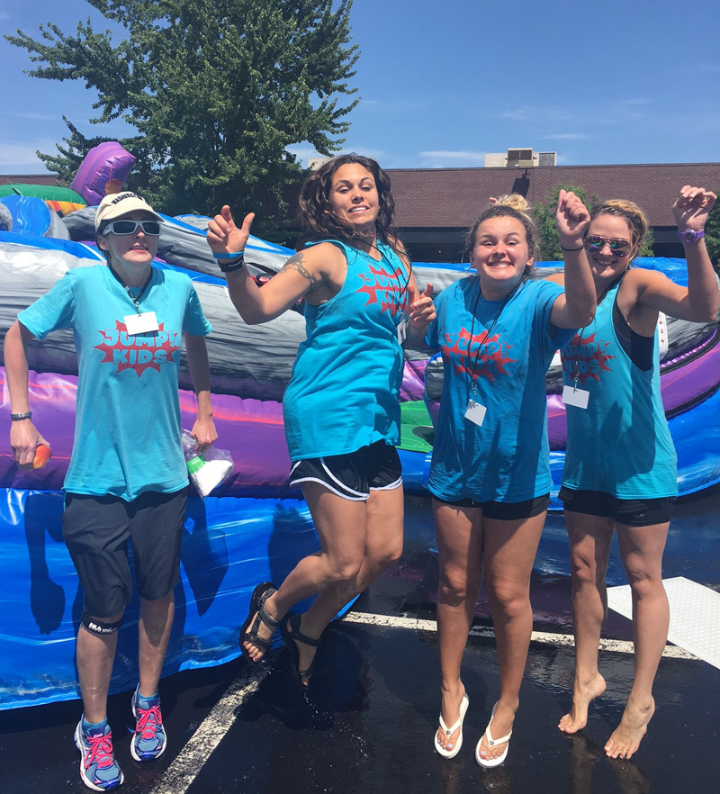 St. Louis Mercy residents fittingly jumping at JUMP!