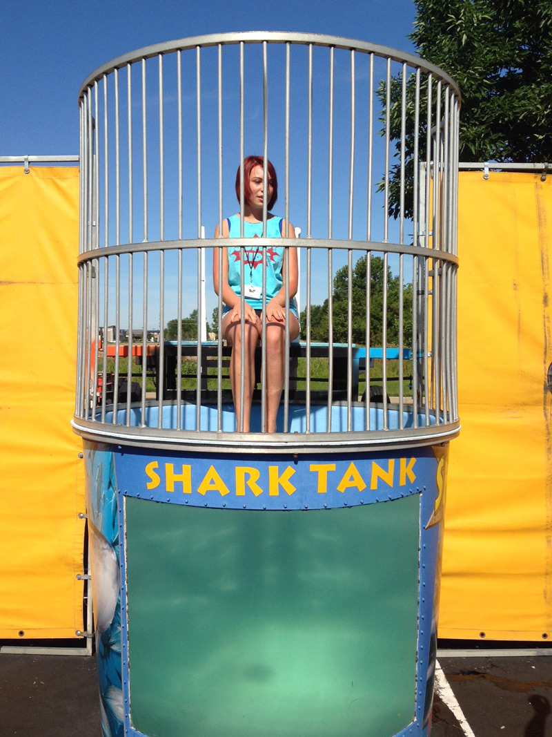 Mercy resident set to get wet in the JUMP! dunk tank