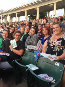 St. Louis Mercy residents at The Muny watching The Little Mermaid