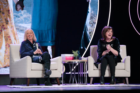 Debbie and Nancy, sharing funny stories from their long-time friendship