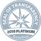 2018 GuideStar Platinum Seal of Transparency