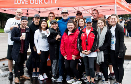 2019 California Run for Mercy 5K group posing for a picture