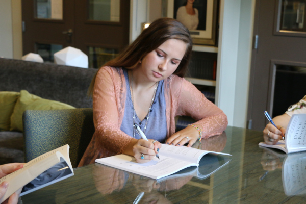 Young women studying at Mercy Multiplied