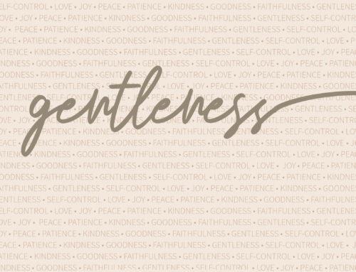 Fruits of the Spirit: Gentleness